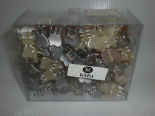 Mini Claw Heart Snap Plastic Hair Clips Gold Cream Amp Silver Styling Lot Of 144