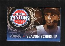 Richard Hamilton--Detroit Pistons--2008-09 Pocket Schedule--Bud Light