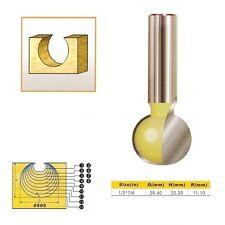 "Tungsten Carbide Round Carving Router Bit- 1/2*7/8- 1/2"" Shank -"