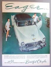 Original  1954 Chrysler New Yorker Club Coupe in Sea Island and Valley Green Ad