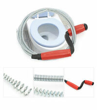 """Drain Tool Snake Closet Auger Toilet Steel Cleaner Pipe Sink Plunger Wire 59"""" AA"""