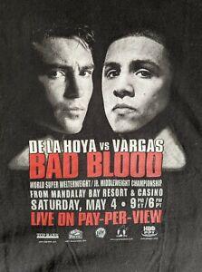 Oscar De La Hoya vs Vargas, Bad Blood (2002), Official T-shirt XL w/Back Graphic