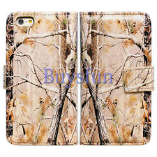 Bcov Camo Tree Card Slot Wallet Leather Cover Case for Apple iPhone 6 6G