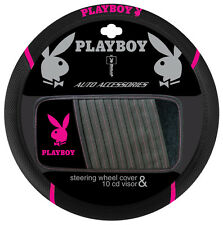 PLAYBOY Pink Steering Wheel Cover and CD Visor - Brand New - Limited Stock