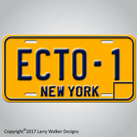 Ghostbusters  '59 Cadillac Hearse  ECTO-1  Prop Replica Aluminum License Plate