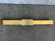 Vintage Womens Stretch Belt Gold Tone Fish Scales Gold Tone Metal Buckle