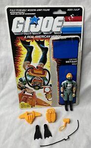 Vintage 1986 G.I. JOE WET SUIT SEALS Figure - Complete w/ Accessories & Cardback