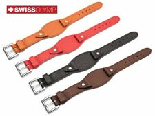 Fits FOSSIL Watch Genuine Leather BUND Strap Band BLACK BROWN RED For Buckle