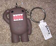 Domo kun brown keychain official NHK Japanese mascot Mezco Toyz keyring new