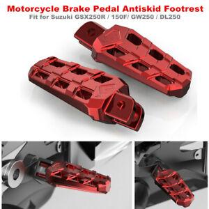 Brake Pedal Antiskid Footrest Cover For Suzuki GSX250R/GW250/DL250/DR160/DR300