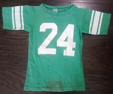 Vintage 80's Green Champion Ncaa Football Practice Jersey Youth Size Small #24