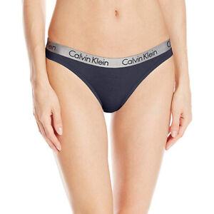 Calvin Klein Women's Logo Cotton Thong Panty,  Ashford Gray, Small