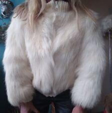 Modes Peau de Mouton Sheepskin Jacket Coat Bomber Sz S