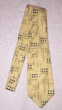 Ralph Lauren Polo Mens Vintage Dice Print Graphic Tie - Silk Handmade