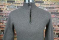 BROOKS BROTHERS Sweater Extra Fine Merino Wool Mock Neck 1/4 Zip Small