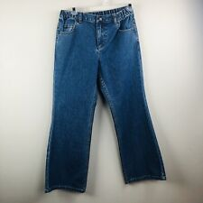 Lands End Girls Size 10 Bootcut Jeans  Elastic Waist Adjustable Pants
