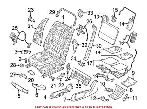 For BMW Genuine Seat Motor Front Right Lower 52107321956