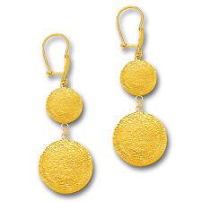 Authentic 14k Gold Earrings Swing Stick Dangle Hook Yellow Gold 1.726g GoldGien