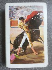 vintage FOURNIER playing cards MATADOR/ BULLFIGHTER - Antonio Casero signed