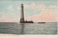 WOLF ROCK LIGHTHOUSE - CORNWALL Vintage Postcard *Free Shipping*