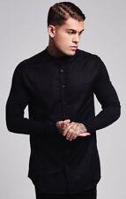 Sik Silk Mens Long Sleeve Designer Stretch Casual Fashion Slim Fit Smart Shirt