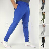 Mens Fleece Slim Fit Bottoms Track Pants Casual Joggers Jogging Slim Trousers