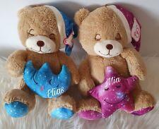 Kuscheltier Bär mit Name Personalisiert Plüschtier Wunschname Geschenk Teddy