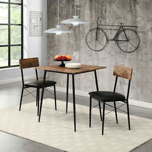 2-Seater Dining Set 3-piece Dining Set For Home Dining Room Kitchen Furniture