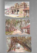 More details for seven raphael tuck 'oilette' wide-wide -world postcards of ceylon - unposted