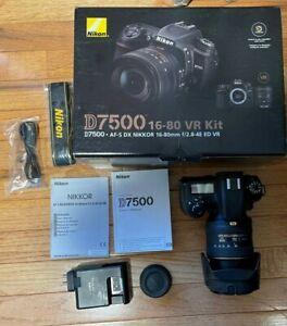 Nikon D7500 with 16-80mm F2.8/4E ED VR lens - Excellent Condition