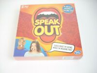 Speak Out Board Game Hasbro 5 Mouthpieces Challenge Family Fun NEW Sealed Gift