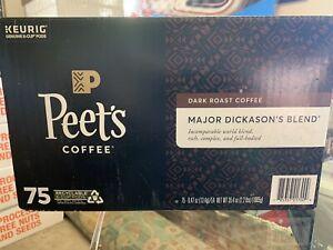 Peet's Coffee Major Dickason's Blend Dark Roast Coffee K-Cup Pods - 75 Count