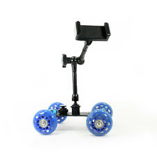 """Dolly Car + Smartphone Clamp Mount + 11"""" Magic Arm for Camera Rig or Smartphone"""