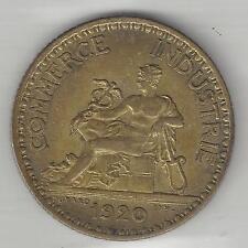 FRANCE,  1920,  1 FRANC, ALUMINUM BRONZE,  KM#876, CHOICE EXTRA FINE