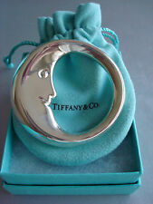 TIFFANY sterling silver ~ NEW IN BOX ~ BABY MOON RATTLE TEETHER~pouch,box,bag