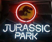 "13""x8"" Jurassic Park Neon Sign Light Beer Bar Pub Lamp Glass Gift Open"