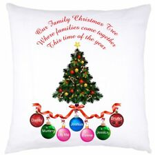 PERSONALISED CUSHION COVER  CHRISTMAS BAUBLES  BIRTHDAY ANY OCCASION GIFT