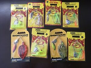 Lot of (8) Strike King Mini-King SpinnerBait 1/8oz