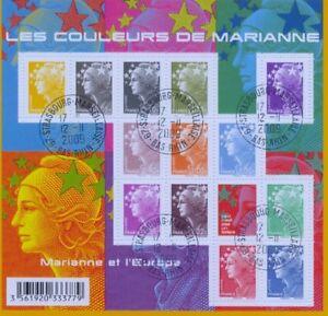 FRANKREICH FRANCE - 2009 MARIANNE COULEURS 4608-12 KLEINBOGEN gestempelt - F4409