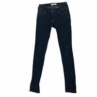 Hollister Womens size 00 Short Dark Wash Denim Low Rise Skinny Leg Blue Jeans