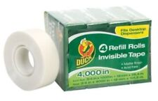 "Duck Brand Invisible Matte Finish Acetate Tape 3/4"" x 1000"",4 Refill Rolls -#A15"