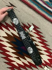 Will Leather Goods Black Woven Western belt NWT 36