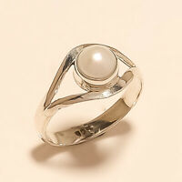 Natural Italian Fresh Water Pearl Ring 925 Sterling Silver New Year Fine Jewelry