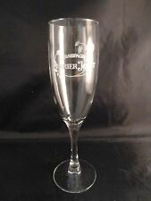 """Perrier Jouet Champagne Flute Glass HAND PAINTED POPPIES 8"""" EXCELLENT CONDITION"""