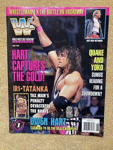 WWF Wrestling Magazine June 1994 Owen Hart Tax Man Sumos Hot Rod NO Cards