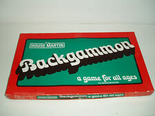"Vintage ""Backgammon"" board game by House Martin. 1970s."