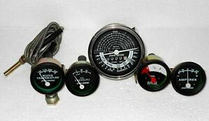 John Deere Tachometer Temperature, Oil pressure,  Ampere &  Fuel Gauge Set BLACK