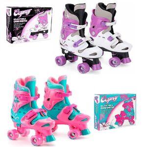 Osprey Kids Roller Skates Girls Quad Boots Size 10-12 13-3 or 3-5 Pink or Purple