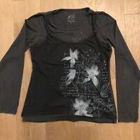 T-shirt gris manches longues avec motifs ❤️ Cache Cache - Taille 3 - Taille L