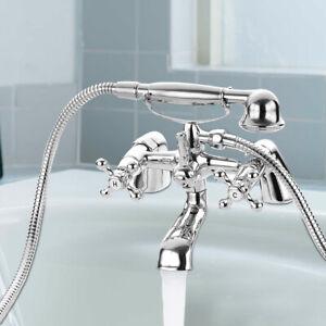 Traditional Victorian Bath Filler Shower Mixer Tap with Handset Bathroom Taps